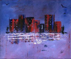 toile Ysabel Laffite artiste peintre Landes