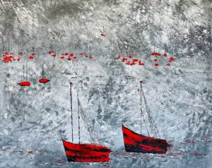 toile artiste peintre Ysabel Laffitte Landes